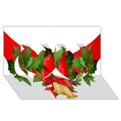 Christmas Clip Art Banners Clipart Best Twin Hearts 3d Greeting Card (8x4)