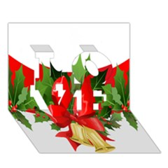 Christmas Clip Art Banners Clipart Best Love 3d Greeting Card (7x5)