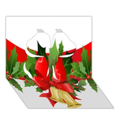 Christmas Clip Art Banners Clipart Best Clover 3d Greeting Card (7x5)