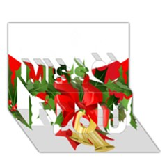 Christmas Clip Art Banners Clipart Best Miss You 3d Greeting Card (7x5)