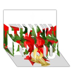 Christmas Clip Art Banners Clipart Best Thank You 3d Greeting Card (7x5)