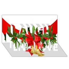 Christmas Clip Art Banners Clipart Best Laugh Live Love 3D Greeting Card (8x4)