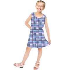 Decorative Plaid Pattern Kids  Tunic Dress