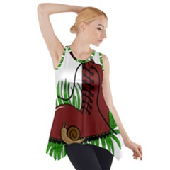 Boot In The Grass Side Drop Tank Tunic