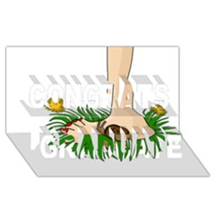 Barefoot In The Grass Congrats Graduate 3d Greeting Card (8x4)