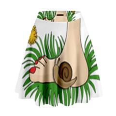 Barefoot In The Grass High Waist Skirt