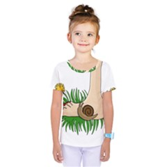 Barefoot in the grass Kids  One Piece Tee
