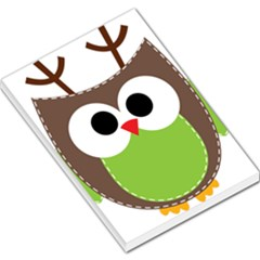 Clip Art Animals Owl Large Memo Pads