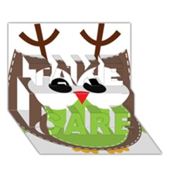 Clip Art Animals Owl TAKE CARE 3D Greeting Card (7x5)