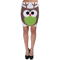 Clip Art Animals Owl Bodycon Skirt