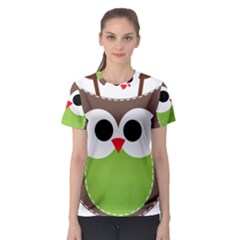 Clip Art Animals Owl Women s Sport Mesh Tee