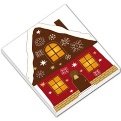 Christmas House Clipart Small Memo Pads