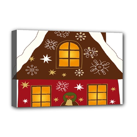 Christmas House Clipart Deluxe Canvas 18  X 12
