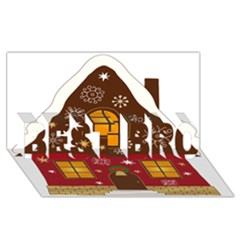 Christmas House Clipart Best Bro 3d Greeting Card (8x4)