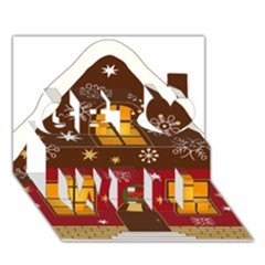 Christmas House Clipart Get Well 3d Greeting Card (7x5)