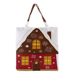 Christmas House Clipart Grocery Tote Bag