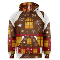 Christmas House Clipart Men s Pullover Hoodie