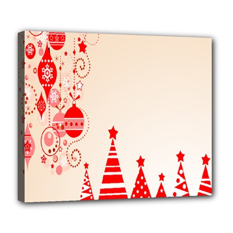 Christmas Clipart Wallpaper Deluxe Canvas 24  X 20