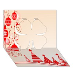Christmas Clipart Wallpaper Clover 3d Greeting Card (7x5)