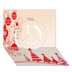 Christmas Clipart Wallpaper Peace Sign 3d Greeting Card (7x5)