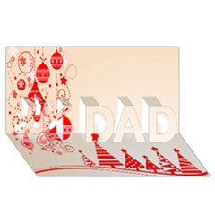 Christmas Clipart Wallpaper #1 Dad 3d Greeting Card (8x4)