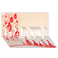 Christmas Clipart Wallpaper Party 3d Greeting Card (8x4)