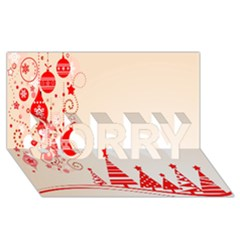 Christmas Clipart Wallpaper Sorry 3d Greeting Card (8x4)