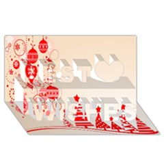 Christmas Clipart Wallpaper Best Wish 3d Greeting Card (8x4)