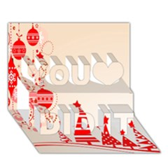 Christmas Clipart Wallpaper You Did It 3d Greeting Card (7x5)