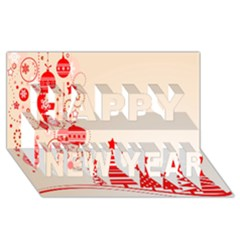 Christmas Clipart Wallpaper Happy New Year 3D Greeting Card (8x4)