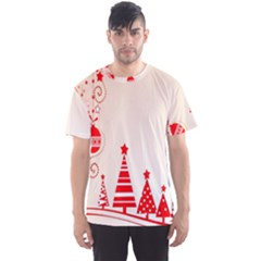 Christmas Clipart Wallpaper Men s Sport Mesh Tee