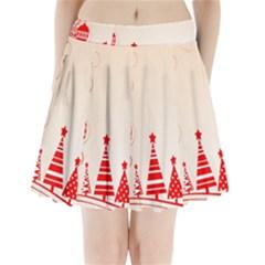 Christmas Clipart Wallpaper Pleated Mini Skirt