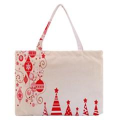 Christmas Clipart Wallpaper Medium Zipper Tote Bag