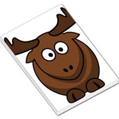 Elk Clip Art Reindeer Raindeer Elk Christmas Xmas Large Memo Pads