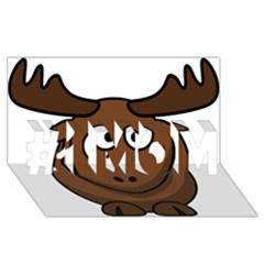 Elk Clip Art Reindeer Raindeer Elk Christmas Xmas #1 MOM 3D Greeting Cards (8x4)