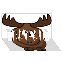 Elk Clip Art Reindeer Raindeer Elk Christmas Xmas Best Sis 3d Greeting Card (8x4)