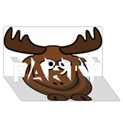 Elk Clip Art Reindeer Raindeer Elk Christmas Xmas Party 3d Greeting Card (8x4)