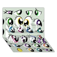 Eyes  Pattern You Are Invited 3d Greeting Card (7x5)