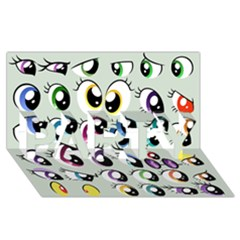 Eyes  Pattern Party 3d Greeting Card (8x4)