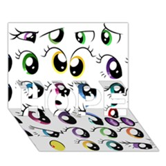 Eyes  Pattern Hope 3d Greeting Card (7x5)