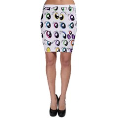 Eyes  Pattern Bodycon Skirt