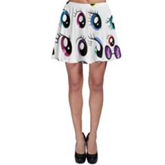 Eyes  Pattern Skater Skirt