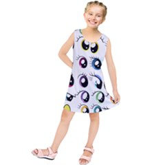 Eyes  Pattern Kids  Tunic Dress