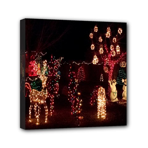 Holiday Lights Christmas Yard Decorations Mini Canvas 6  X 6