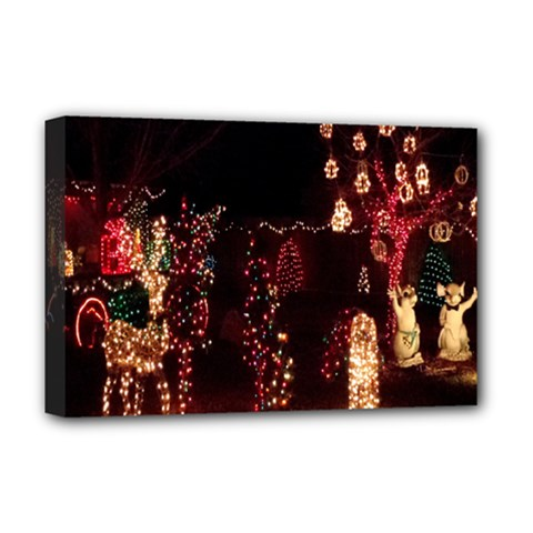Holiday Lights Christmas Yard Decorations Deluxe Canvas 18  X 12