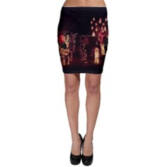 Holiday Lights Christmas Yard Decorations Bodycon Skirt