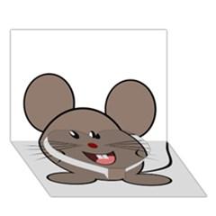 Raton Mouse Christmas Xmas Stuffed Animal Heart Bottom 3d Greeting Card (7x5)