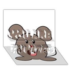 Raton Mouse Christmas Xmas Stuffed Animal You Are Invited 3d Greeting Card (7x5)