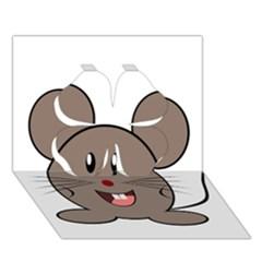 Raton Mouse Christmas Xmas Stuffed Animal Clover 3d Greeting Card (7x5)