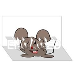 Raton Mouse Christmas Xmas Stuffed Animal Engaged 3d Greeting Card (8x4)